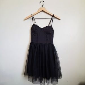 Band of Gypsies black corset and tulle dress